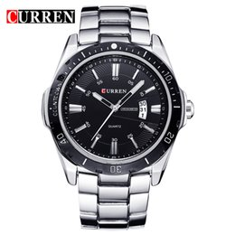 Discount curren analog men watches black - 2018 NEW curren watches men Top Brand fashion watch quartz watch male relogio masculino men Army sports Analog Casual