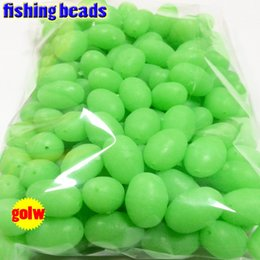 Glowing Fishing Lures Australia - Fishing Lures fihsing plastic luminous beads glow in the dark 2*3 3*4----12*16mm more size choose