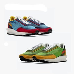 Camp Shoes For Men Australia - New UNDERCOVER x Sacai LDV Waffle Casual shoes For men women fashion sneaker blue green Camping Hiking running jogging trainer