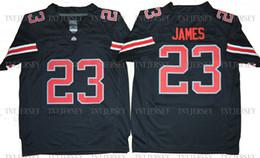$enCountryForm.capitalKeyWord Australia - Cheap custom LeBron James #23 Ohio State Football Jerseys All Stitched LBJ Shirts XS-5XL