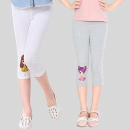leggings costumes NZ - Girls Leggings Cotton Cartoon Children Summer Pants For Girls Clothing Elastic Skinny Kids Trousers 3 4 6 8 10 12 Years Costumes