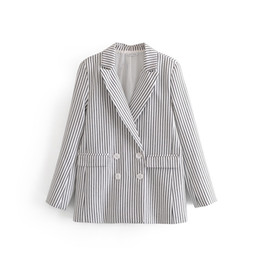 $enCountryForm.capitalKeyWord Canada - New Arrival Women Xsxz75-27199 European And American Fashion Stripe Double Breasted Long Sleeved Suit Jacket T190730