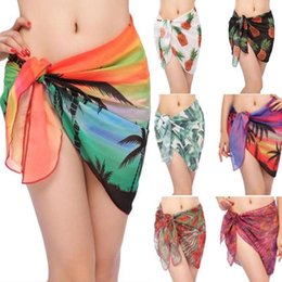 wholesale cheap bath towels UK - Sexy Beach Cover up Cheap Women's Sarong Summer Bikini Cover-ups Wrap Pareo Beach Skirts Towel New Bathing Suit Cover-up