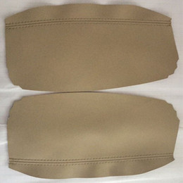 center console armrest covers NZ - For Acura RL Armrest Center Console Cover Synthetic Leather Beige For 2005-2010