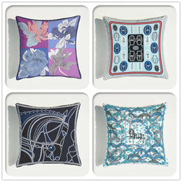 Cushion Cover High Precision Ultra-soft Velvet Environmental Protection Double-sided European Sofa Printing Pillow Case on Sale