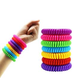 Fashion hair chain online shopping - Portable Anti mosquito Bracelet Mosquito Repellent Bracelet Fashion Elastic Spiral Hair Wrist Band Telephone Ring Chain TTA901