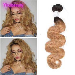 brazilian virgin hair weft ombre 2019 - Brazilian Virgin Hair 1B 27 Bundles 1 Pieces One Set Human Hair Body Wave 1B 27 Ombre Color One Bundle Hair Extensions d
