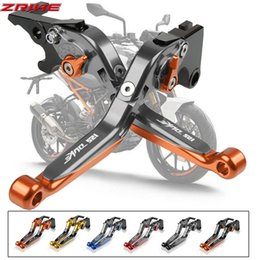 folding levers UK - Cnc Motorcycle Brake Clutch Levers For 125 Duke 2011 -2016 2012 2013 2014 Adjustable Lever Folding Moto Accessories