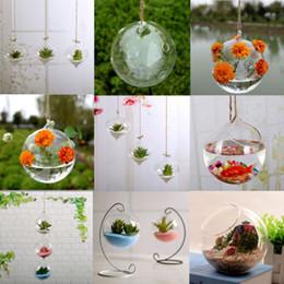 $enCountryForm.capitalKeyWord Australia - Vases Flower Plant Wall Hanging Clear Glass Vase Bottle Pot Home Garden Ball Decoration