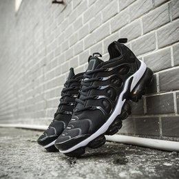 Spike Pack Australia - 2019 vapores maxsTN Plus Olive Mens Sports Running Shoes Sneakers Men Run In Metallic White Silver Colorways For Male Shoe Pack Triple Black