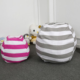 Wholesale Beds Bean Bags NZ - Stuffable Animal Toys Storage Bean Bag Stuffed Children Kids Plush Toy Organizer Large Capacity EJ601803