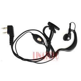 $enCountryForm.capitalKeyWord Australia - PTT cheap walkie talkie two way radio earpiece earphone ear hook for HYT LINTON BAOFENG PUXING etc K-Type