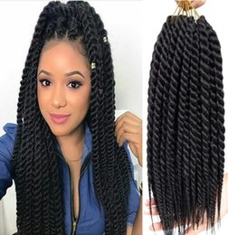 havana mambo twist crochet braids NZ - Synthetic Hair Brown Color Havana Mambo Twist Braids Hair Extensions Senegalese Twist Braids Black Crochet Braiding Hair for Black Women