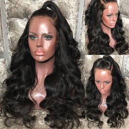 brazilian full lace wig silk Australia - 150% Density Body Wave Silk Base Full Lace Human Hair Wigs Brazilian Remy Hair Silk Top Wig With Baby Hair Natural Hairline