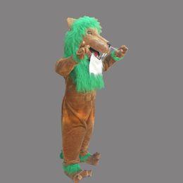 Wholesale lion mascot costumes adults online – ideas Adult size Brown Lion mascot plush king of froest Lion custom fancy costume kit mascotte theme fancy dress carniva costume