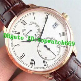 mens manual watches NZ - 2019 New Luxury Senator Chronometer 1-58-01-01-01-04 Watch Power Reserve Swiss 58-01 Manual Winding Rose Gold Case Leather Strap Mens Watch