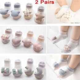 Boys Toddlers Socks NZ - 2 Pairs Cute Newborn Baby Toddler Girl Boy Star Heart Shape Cartoon Socks Anti-Slip Cotton Socks 0-12 Months