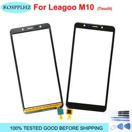 Touch Panel Repair NZ - 5.45 inch For Leagoo M10 touch Screen Front Glass Panel Digitizer Repair Parts Lens Replacement 720x1440 Cell phone + Tools