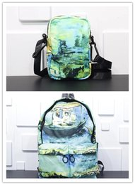 $enCountryForm.capitalKeyWord Australia - OW 19ss Designer Backpack Waterproof fabric Light Special Oil Painting Schoolbag 33*13*46.5