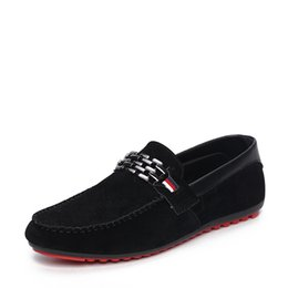 $enCountryForm.capitalKeyWord UK - OLOMMMen Black Loafer Shoes Trendy Nubuck Leather Slip-on Loafers Vintage Style Men Driving Casual Blue Flat Shoes