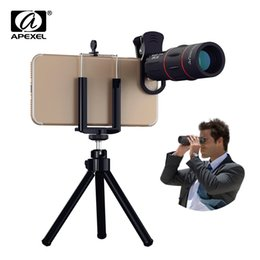 18x zoom camera Australia - Apexel 18x Telescope Zoom Lens Monocular Mobile Phone Camera Lens For Iphone Samsung Smartphones For Camping Hunting Sports J190704