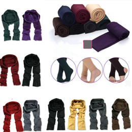 $enCountryForm.capitalKeyWord Canada - Womens Girls Warm Knitted Cable Leggings Solid Stretchy Fitness Over Heels Pantynose Spring Autumn Pants One Size Slim Leg MMA1206