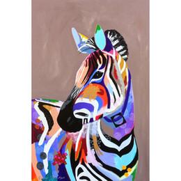Color Diy Painting Australia - Painted color zebra 5D Diy diamond painting, cross stitch Diy diamond embroidery home decoration rhinestone painting mosaic gift