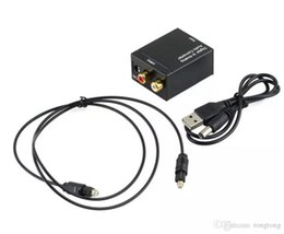 $enCountryForm.capitalKeyWord Australia - Digital Adaptador Optic Coaxial RCA Toslink Signal to Analog Audio Converter Adapter with fiber Optical cable fast shipment