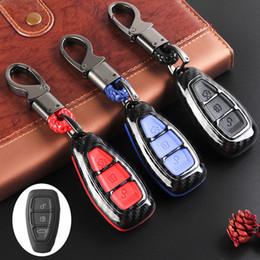 $enCountryForm.capitalKeyWord Australia - KKMOON 1Pcs Carbon Fiber Remote Key Fob Case Shell Cover car styling Car accessories for Fords Fo-cus Fiesta Kuga C-Max