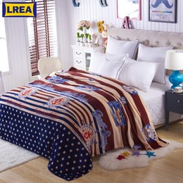 King size bedding for online shopping - LREA New warm Soft Blanket on bed cartoon comfortable and soft Coral Fleece Warm Throw travel sizes for choose