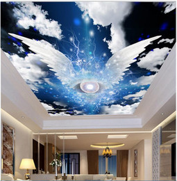 $enCountryForm.capitalKeyWord Australia - WDBH 3d wallpaper custom photo Angel wings star blank cloud ceiling murals room home decor 3d wall room murals wallpaper for walls 3 d