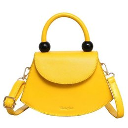 yellow hand bags Australia - Fashion Smiley Women Purses Handbags 2019 New Girl's Yellow Shoulder Crossbody Bag Simple Ladies Hand Bags Small Totes Kabelky Y19061903