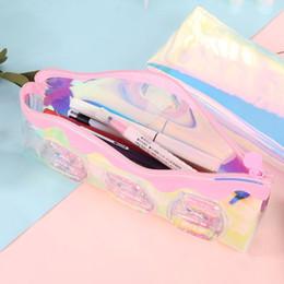 $enCountryForm.capitalKeyWord Australia - Kawaii Laser Milk Bottle Pencil Case Iridescent Transparent Cosmetic Makeup Bag Pouch School Supplies Stationery Gift