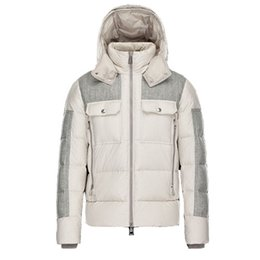 Casual Coat designs for men online shopping - New Winter Down Jacket Men Mixed Color Brand Designer Zippers Jackets Male Warm Outwear Fashion Design Outdoor Coats Size XXXXL for Sale