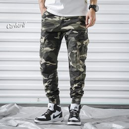 $enCountryForm.capitalKeyWord NZ - DIAOOAID 2019 New Men's camouflage hip hop trousers full of cotton wash multi-pocket trousers for male casual camo pants