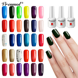 acrylic paint gel nails Australia - Vrenmol 58 Colors Nail Art Nail Polish Hybrid Varnishes UV Gel Lacquer French Manicure Acryl Gel Acrylic Paint Top Base Primer