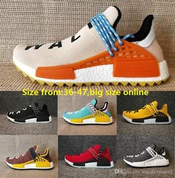 cf171499b Black Colette Human Race trail Running Shoes Men Women Pharrell Williams HU  Runner Yellow Nerd core Black White Red sports runner sneaker
