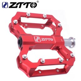 Cycle Pedals Mountain Australia - ZTTO 1 Pair CNC Lightweight MTB BMX Road Bike Bicycle Cycling Sealed 6 Bearings Flat Pedal