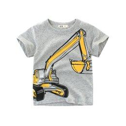 Summer Boys T Shirts Patterns Australia - 2019 Fashione Children's Clothing Excavator Pattern Summer Boy T-shirt Short-sleeved Cartoon Children's Clothing Cotton Baby Clothes