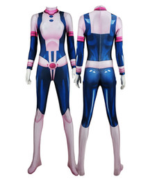 $enCountryForm.capitalKeyWord Australia - Anime Women Girl My Hero Academia OCHACO URARAKA 3D Cosplay Costume Lycar Spandex High Quality Zentai Bodysuit Sexy Catsuit Jumpsuit