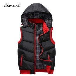 v neck sleeveless men cotton Australia - DIMUSI Mens Vests Spring Winter Mens Fashion Sleeveless Jackets Male Cotton-Padded Vests Men Thicken Brand Waistcoats 5XL,YA767 S191019
