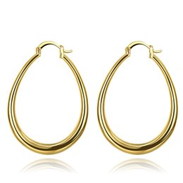 Christmas Gifts Female Australia - Stylish Trendy Earrings Big Circle Pattern Gold Plated Rose Gold Plated Color Earring Cuff Jewelry For Female Christmas Party Gift POTALA032