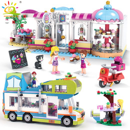 $enCountryForm.capitalKeyWord Australia - City Cake Store Camper Car With Girls Figures Building Blocks Compatible Friends Bricks Educational Toys For Children