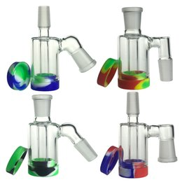 New boNg straight online shopping - New Inch Glass Ash Catcher Silicone Container Reclaimer with mm mm Thick Pyrex Ashcatcher Bong Water Pipes for Smoking