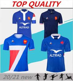 Großhandel Neue Art 2020 2021 Frankreich Super-Rugby-Trikots 20/21 Frankreich Shirts Rugby Maillot de foot Französisch BÖLN Rugby Shirt Größe S-3XL