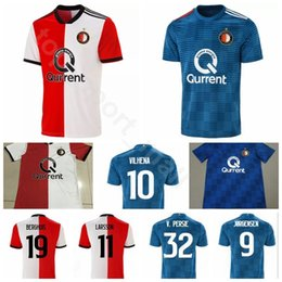 2018 2019 Feyenoord Soccer 10 VILHENA Jersey Men 9 JORGENSEN 32 PERSIE 19  BERGHUIS 11 LARSSON Football Shirt Kits Uniform Custom Name Number 6310a0854