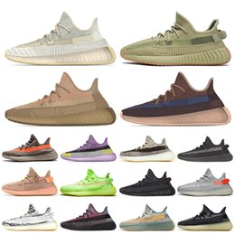 2020 Top quality kanye west women mens running shoes Sulfur Eliada Abez Translucent Yecher Asriel Israfil Cinder trainers sneakers size 13 on Sale