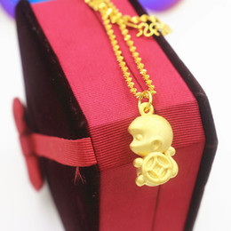 $enCountryForm.capitalKeyWord NZ - Foreign trade new euro coins gold jewelry exquisite animal shape pendant necklace Vietnam long time not fade sand gold jewelry wholesale