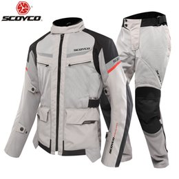 Scoyco Racing Gear Australia - heap Jackets SCOYCO Summer Motorcycle racing jersey clothing drop resistance protective Gears Clothing Armor Motocicleta Reflective At Ni...