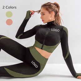Wholesale necked girl yoga for sale – designer Hot Sexy Women Girls Gym Workout Wear Sports One piece Body Stocking Yoga Pants Sets